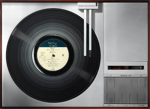 pink floyd's record placed on a turntable