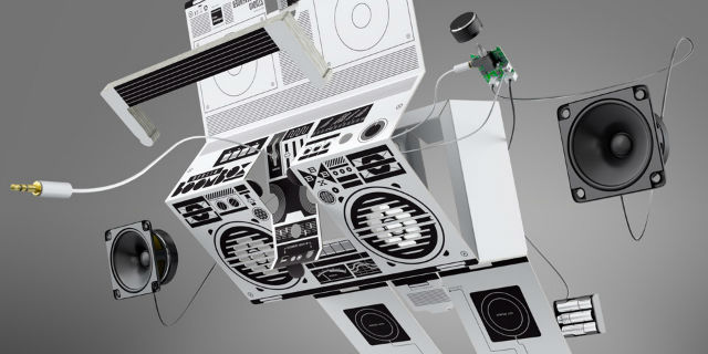 exploded view of the berlin boombox