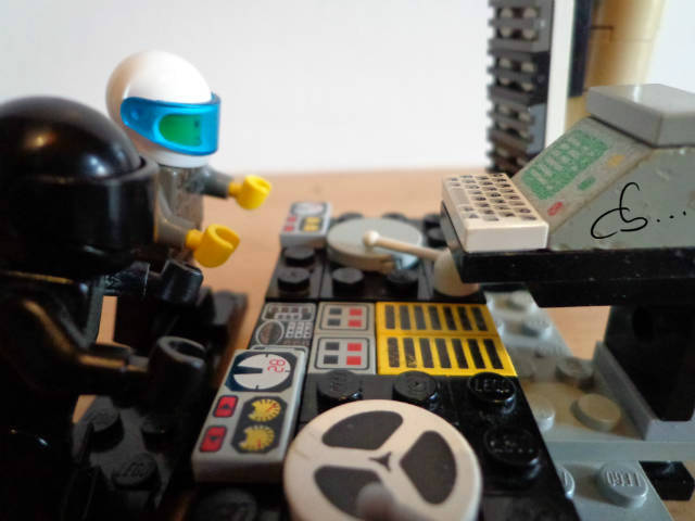 Daft Punk mixing records on a Lego  turntable