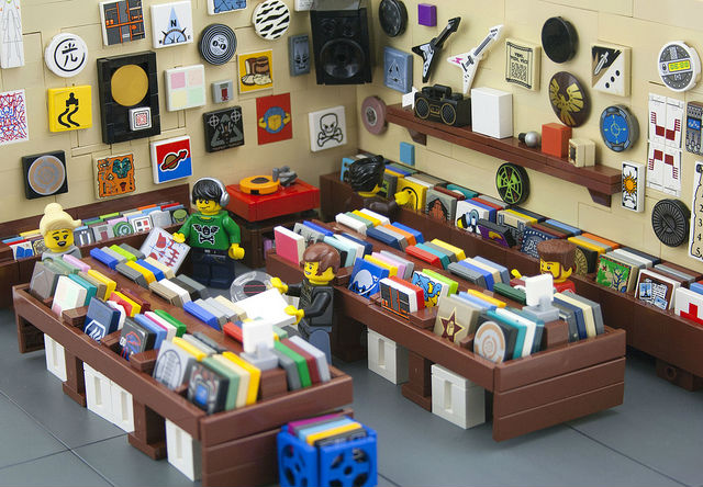 a record store built on lego