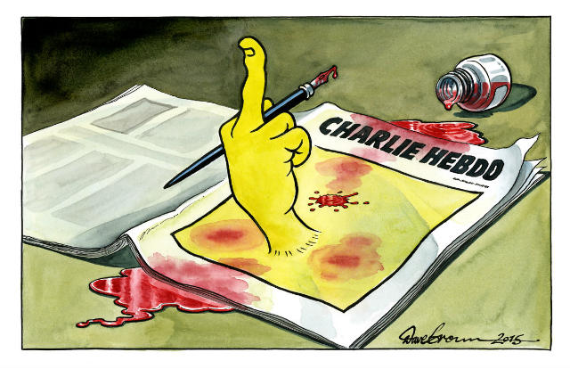 dave  brown, tribute to charlie hebdo
