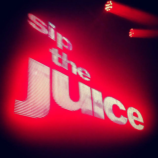 sip the juice logo made from lights