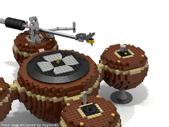 turntable made out of lego bricks
