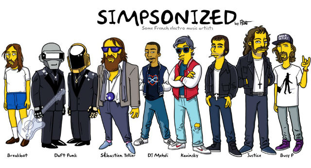 the french touch simpsonized by adn