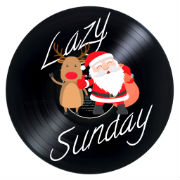 lazy sunday mix, christmas logo
