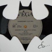 batman sign carved out from vinyl record