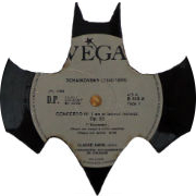 batman carved out from a vinyl record