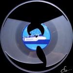 Wu Tang logo art on a Vinyl Record