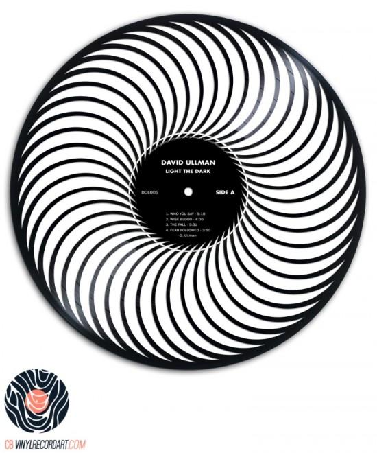 Clockwise - Sculpture on vinyl record