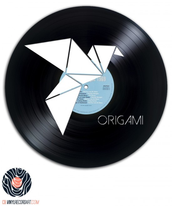 Folded Bird - Art and Design on vinyl record