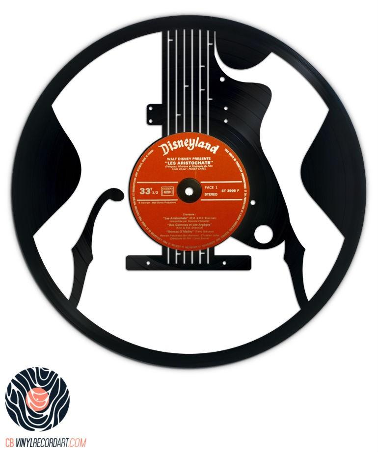Guitare Jazz – Œuvre et déco sur disque vinyle recyclé