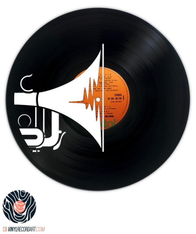 Trompette – Art, design d'intérieur et sculptures sur disque vinyle