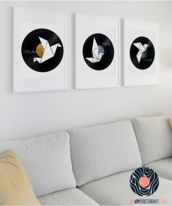 Pack Origami – Décoration murale et art sur disques vinyles