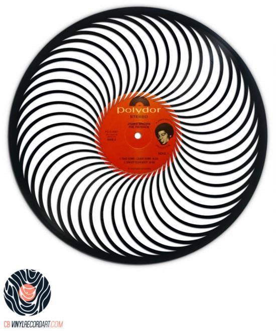 Clockwise - Sculpture sur disque vinyle
