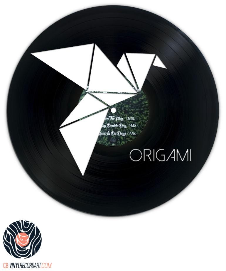 Folded Bird - Création sur disque vinyle