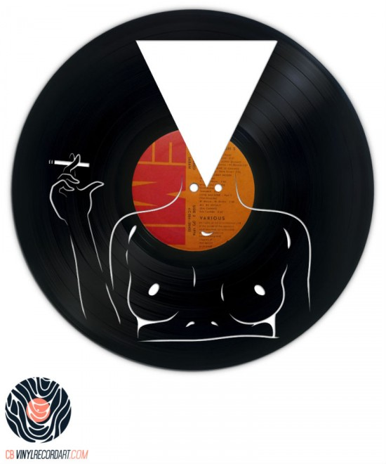 the new culture piece of art carved out from a vinyl record