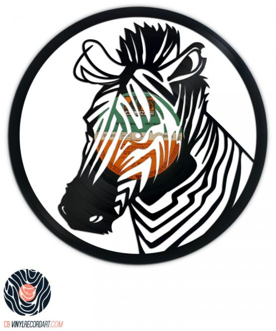 Zebra - Création et sculpture sur disque vinyle