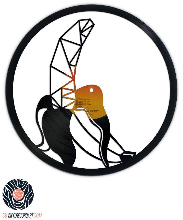Geometric Banana - Art et Sculpture sur disque vinyle