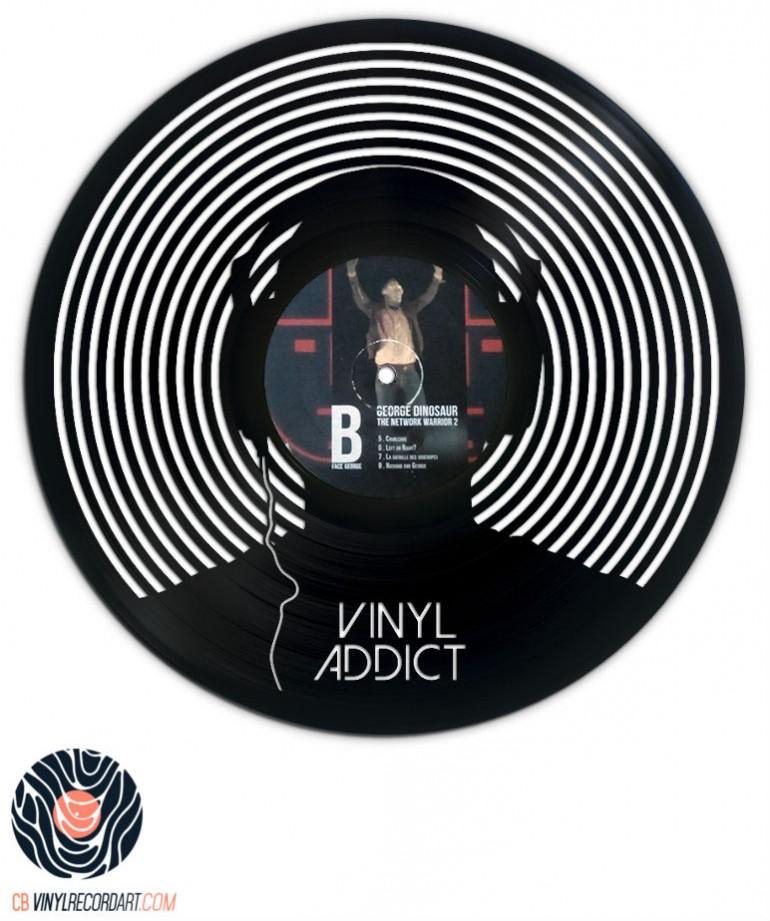 Vinyl addict – sculpture on damaged vinyl record