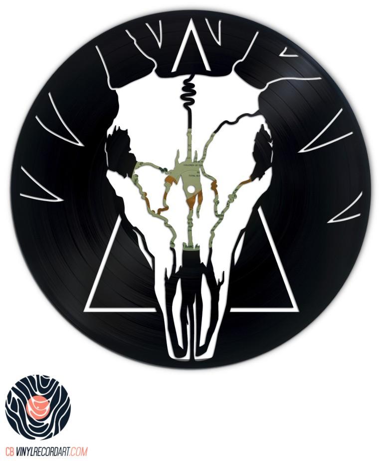 Deer Skull – Sculpture et objet de déco sur disque vinyle