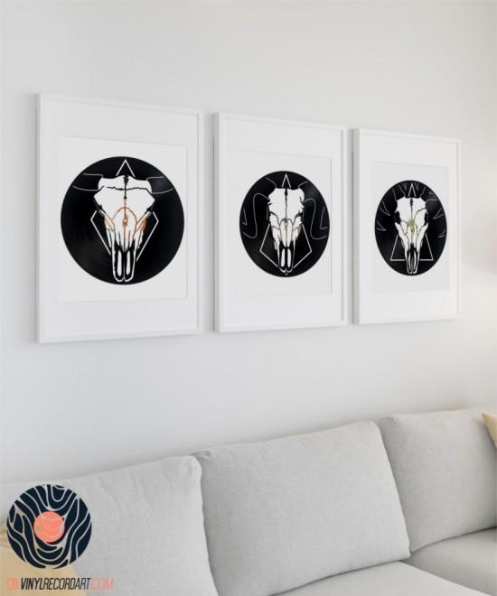 Pack Skulls – Sculptures et objets de déco sur disques vinyles