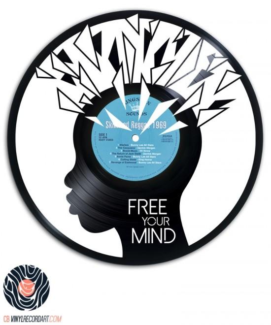 Free your Mind - Design sur disque vinyle