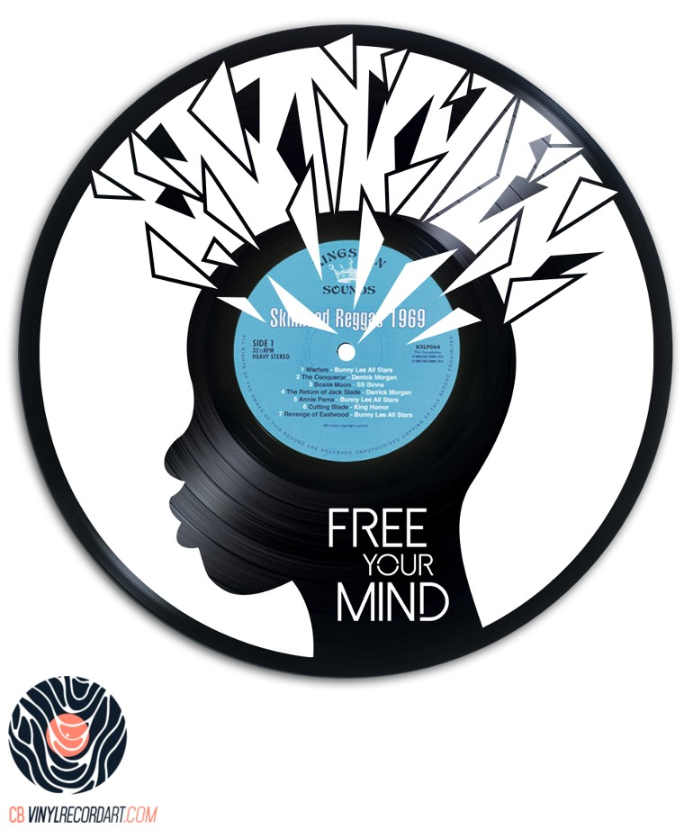 Free your Mind - Design sur disque vinyle