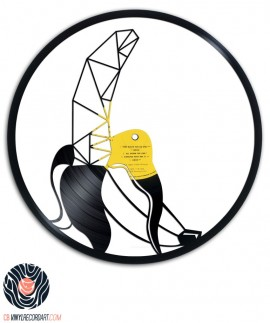 Geometric Banana - Recycled Art on vinyl record