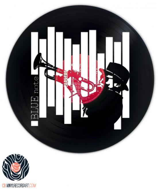 Blue Note – Sculpture et déco murale sur disque vinyle