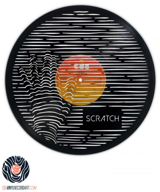 Scratch Me - Original sculpture and wall decor on vinyl record