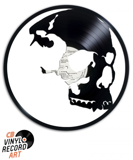 Friend Skull - Sculpture sur disque vinyle