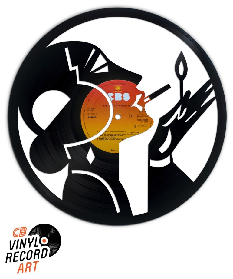 Good Old Days - Art Deco design on a recycled vinyl record