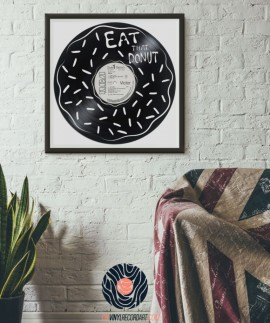 Donut - Piece of art on recycled vinyl record