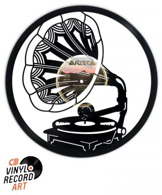 Gramophone – Objet de déco murale sur disque vinyle