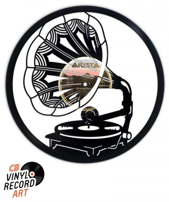Gramophone - Wall Decor and upcycled vinyl record