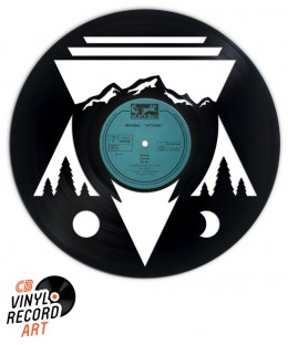 Les Alpes - Art on vinyl record and wall decoration