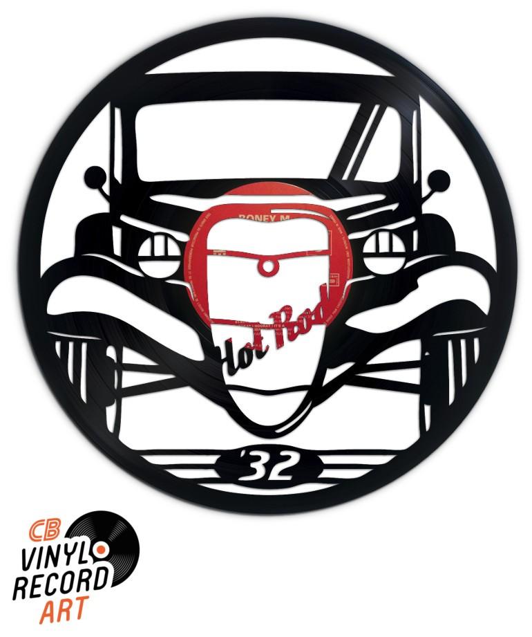 Hot Rod – Déco murale tendance gravée sur disque vinyle