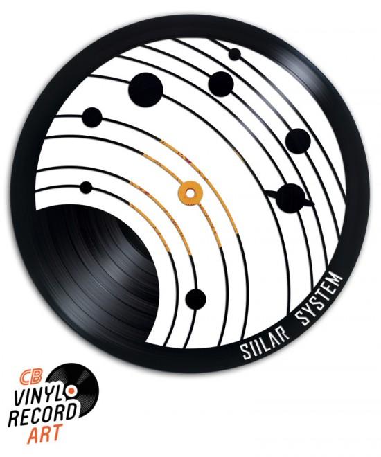 Système Solaire - Sculpture et Création sur disque vinyle