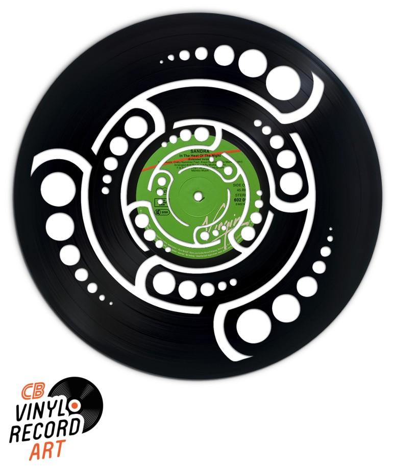 Crop Circle – Déco murale vintage gravée sur disque vinyle