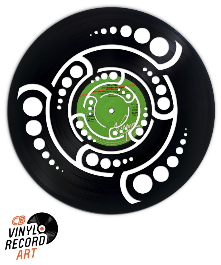 Crop Circle - Original decorative object carved on vinyl record