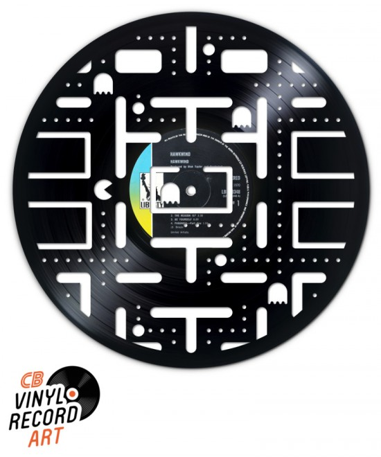 Pacman Carte Classique - Objet de décoration sur disque vinyle
