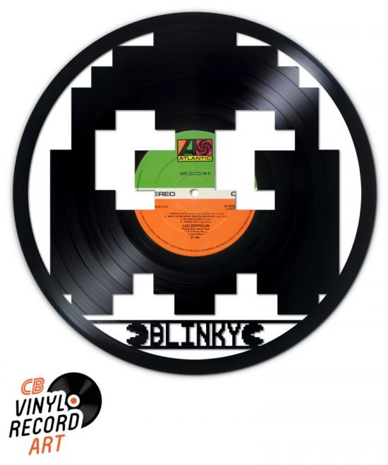 Pacman, fantôme Blinky - Art et décoration murale sur disque vinyle