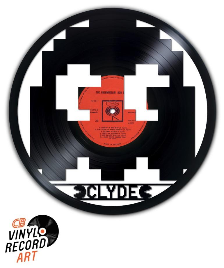 Pacman, fantôme Clyde - Déco murale sur disque vinyle