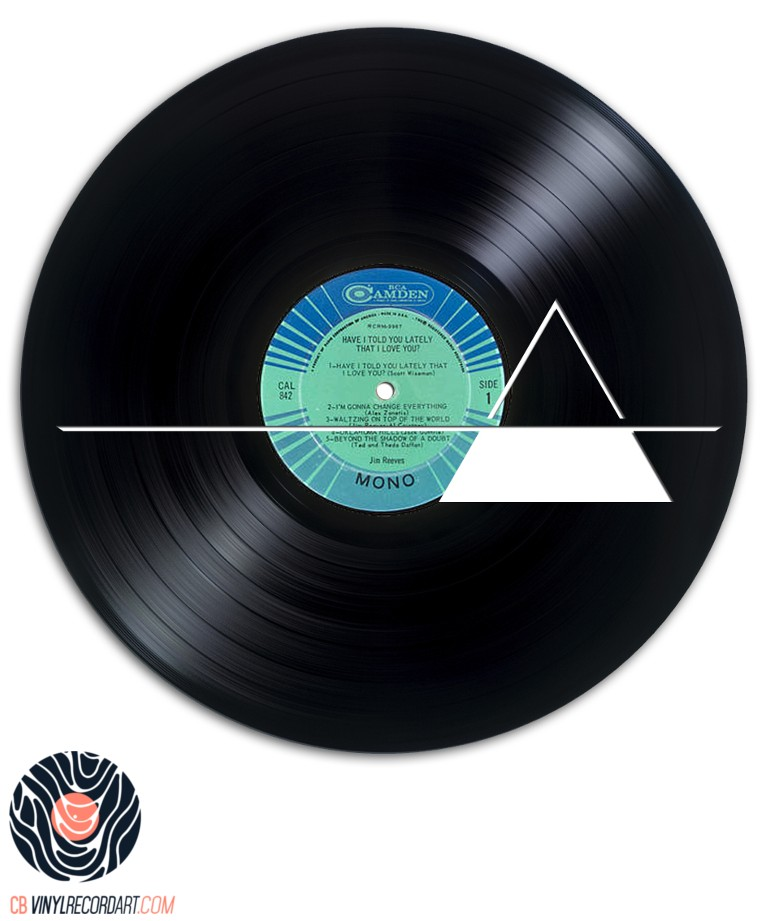 Delta - Design carved out from vinyl record