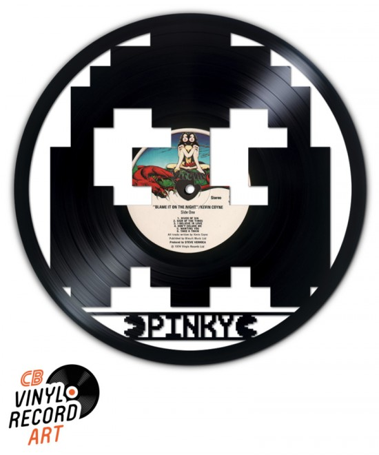 Pacman – Pinky Ghost – Retro gaming and decorative object on vinyl record