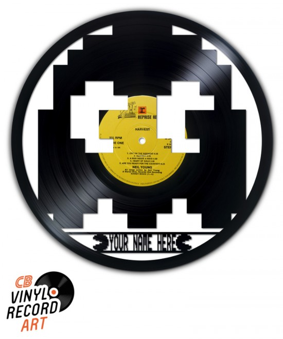 Pacman personalised ghost - Wall decoration on vinyl record