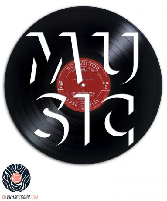 Music Font - Design et Sculpture sur disque vinyle