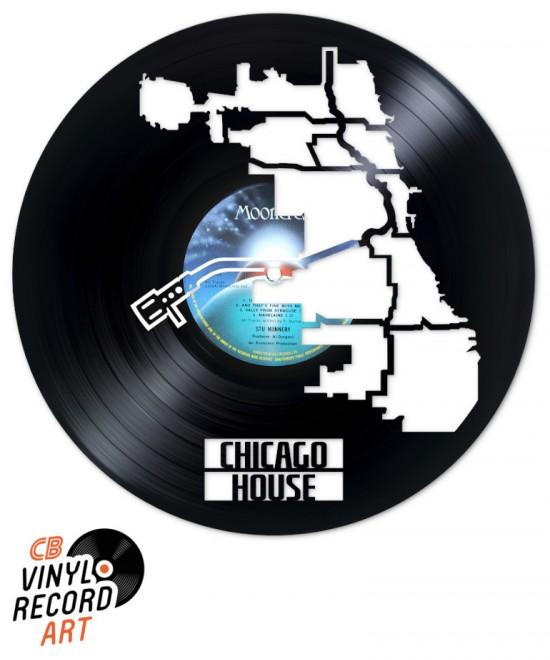 Chicago House Music - Art et objet de déco sur disque vinyle