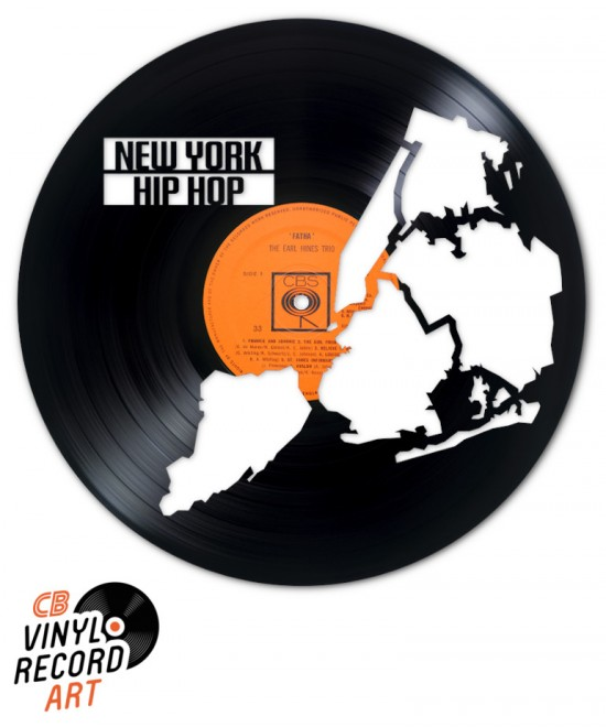 New York Hip Hop – Decorative object on recycled vinyl record