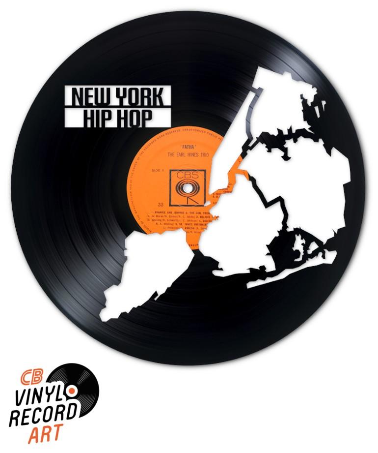 New York Hip Hop - Objet de décoration sur disque vinyle